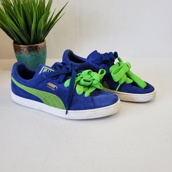 Puma Suede Classic Sneakers Blue Green